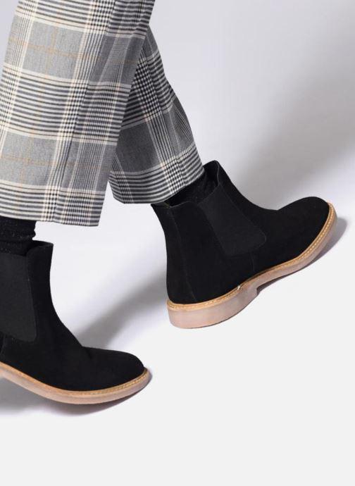 Bottines et boots Kickers TYGA Noir vue bas / vue portée sac