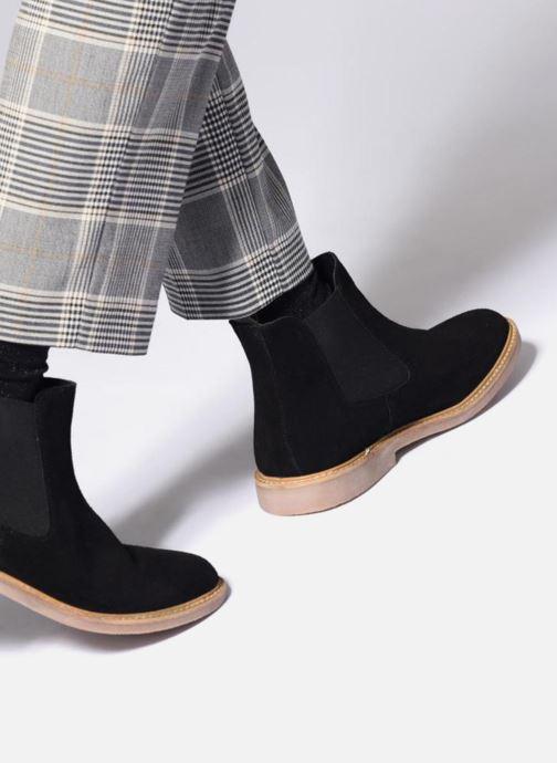 Bottines et boots Kickers TYGA Rouge vue bas / vue portée sac