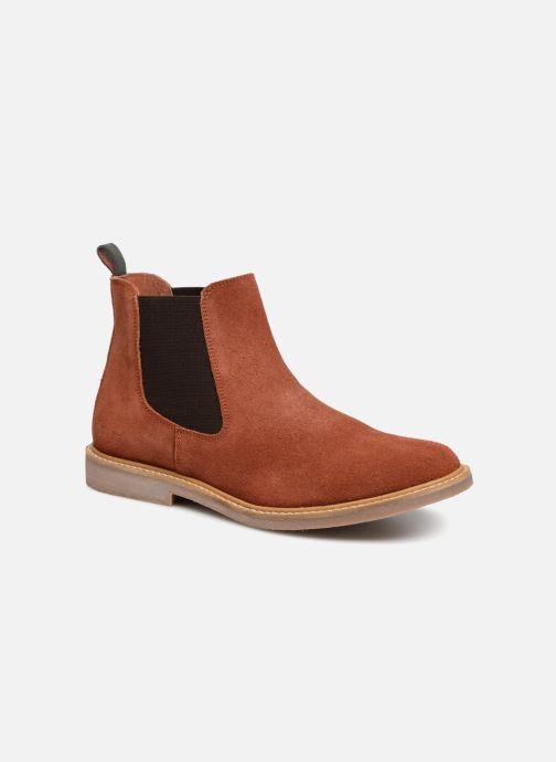 Bottines et boots Kickers TYGA Rouge vue détail/paire