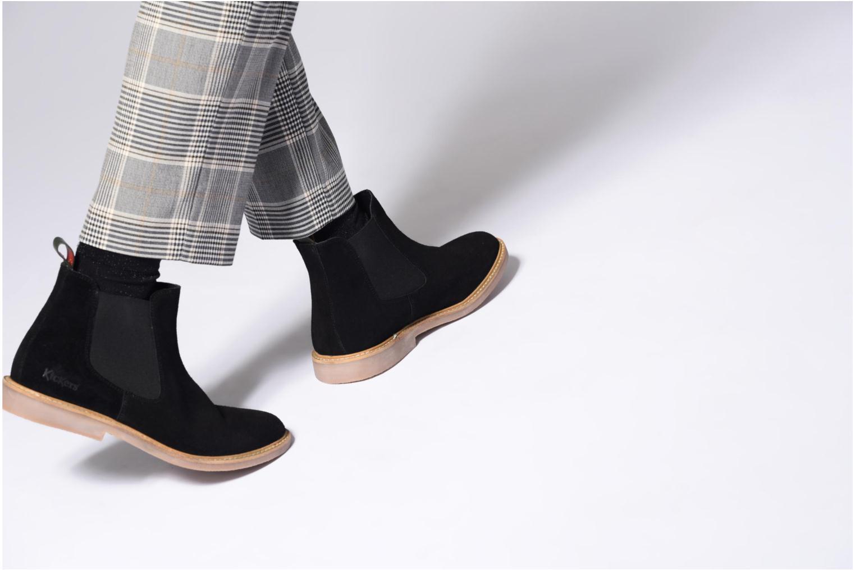 Bottines et boots Kickers TYGA Bleu vue bas / vue portée sac