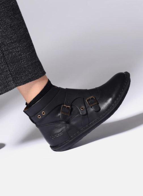 Bottines et boots Kickers WABOOT Noir vue bas / vue portée sac
