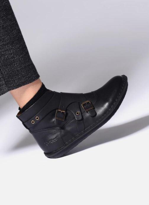 Bottines et boots Kickers WABOOT Marron vue bas / vue portée sac