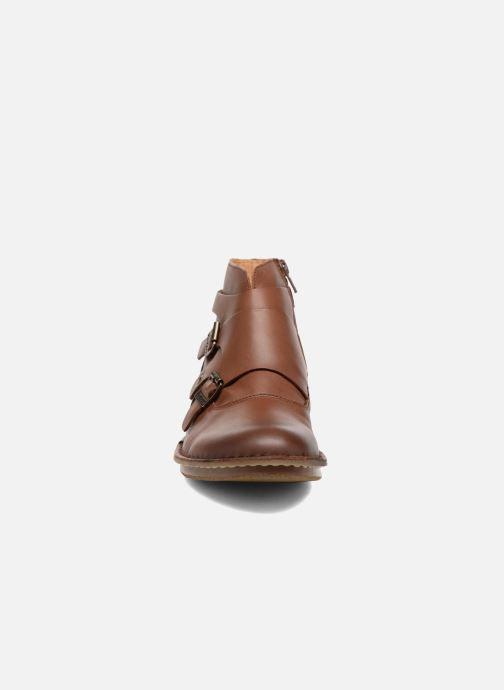 Stivaletti e tronchetti Kickers WABOOT Marrone modello indossato
