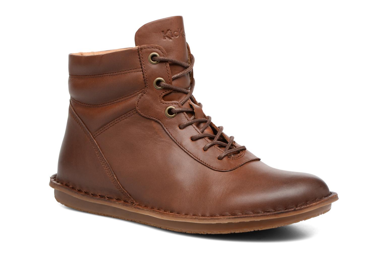 Bottines et boots Kickers WABUCK Marron vue détail/paire