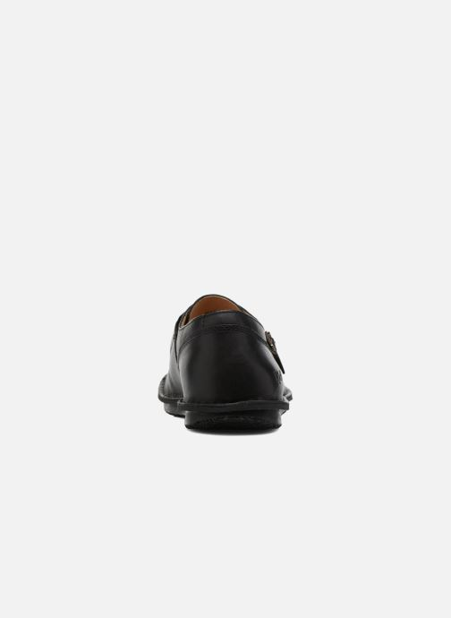 Mocasines Kickers WABUCKLOW Negro vista lateral derecha