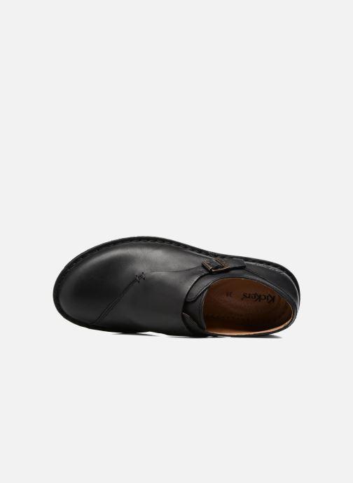 Mocasines Kickers WABUCKLOW Negro vista lateral izquierda