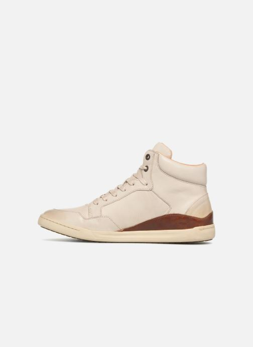 Baskets Kickers CROSSOVER Blanc vue face
