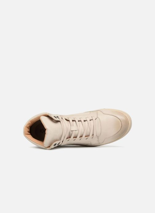 Baskets Kickers CROSSOVER Blanc vue gauche