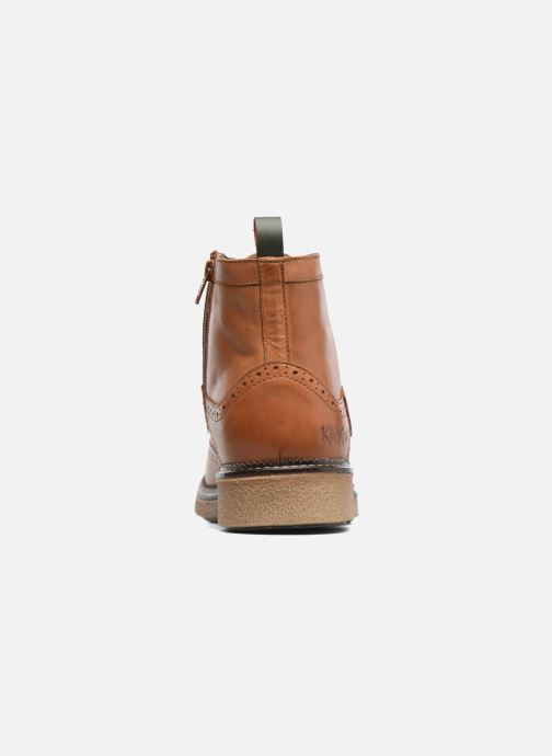 Bottines et boots Kickers FORTINO Marron vue droite