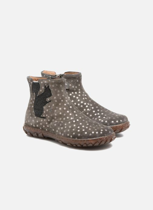 Bottines et boots Pom d Api Cute Squirrel Gris vue 3/4