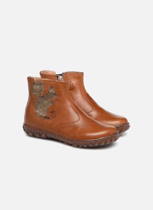 Bottines et boots Pom d Api Cute Squirrel Marron vue 3/4