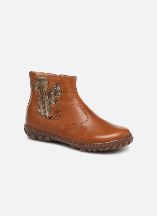 Bottines et boots Pom d Api Cute Squirrel Marron vue détail/paire