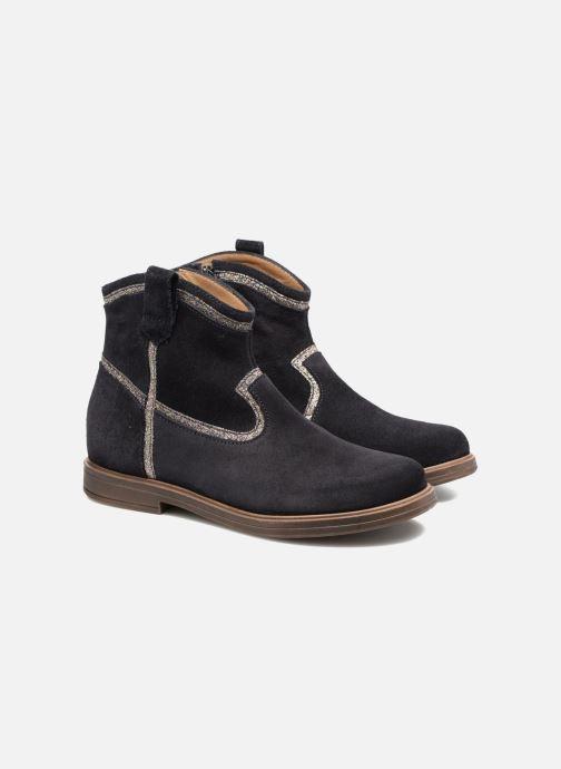 Ankle boots Pom d Api Hobo Glitter Blue 3/4 view