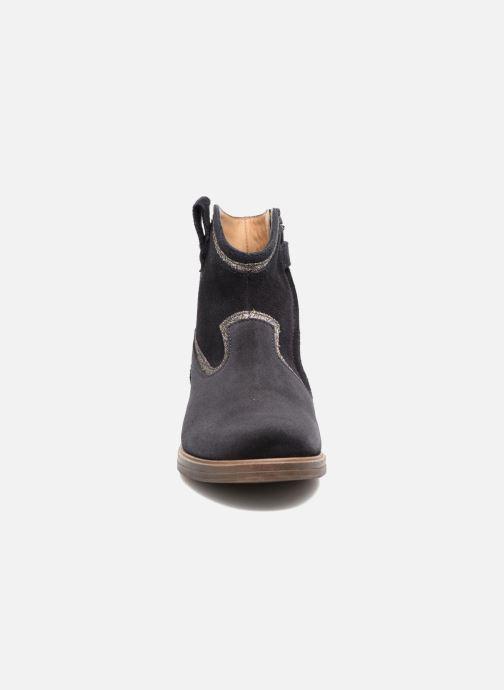 Bottines et boots Pom d Api Hobo Glitter Bleu vue portées chaussures