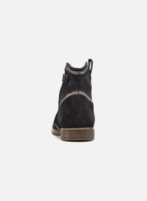 Ankle boots Pom d Api Hobo Glitter Blue view from the right
