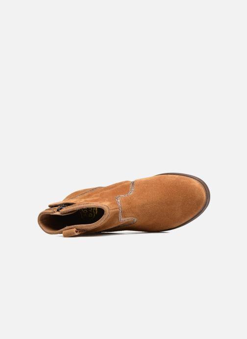 Boots en enkellaarsjes Pom d Api Hobo Glitter Bruin links