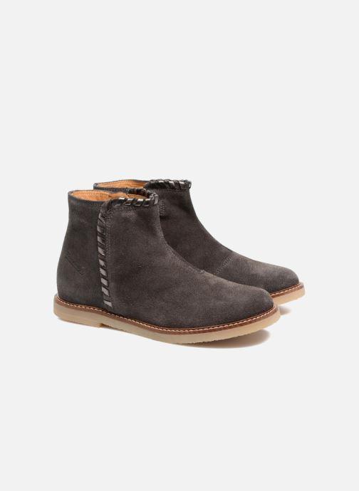 Bottines et boots Pom d Api Patex Braided Gris vue 3/4