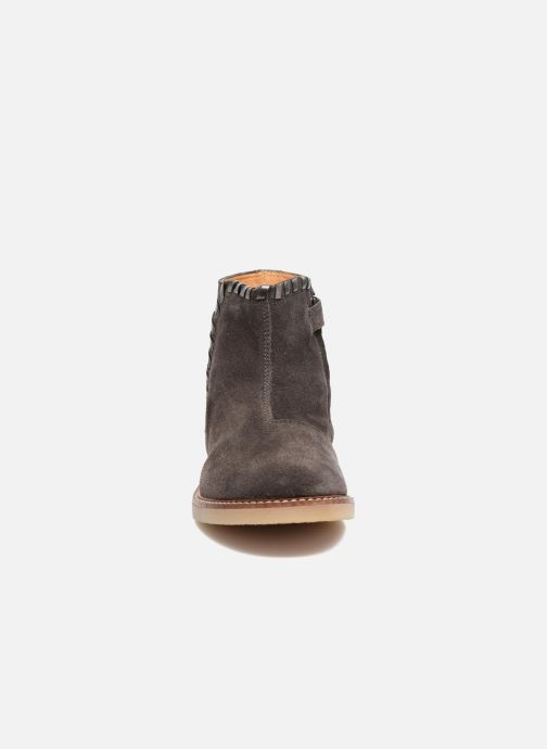 Bottines et boots Pom d Api Patex Braided Gris vue portées chaussures