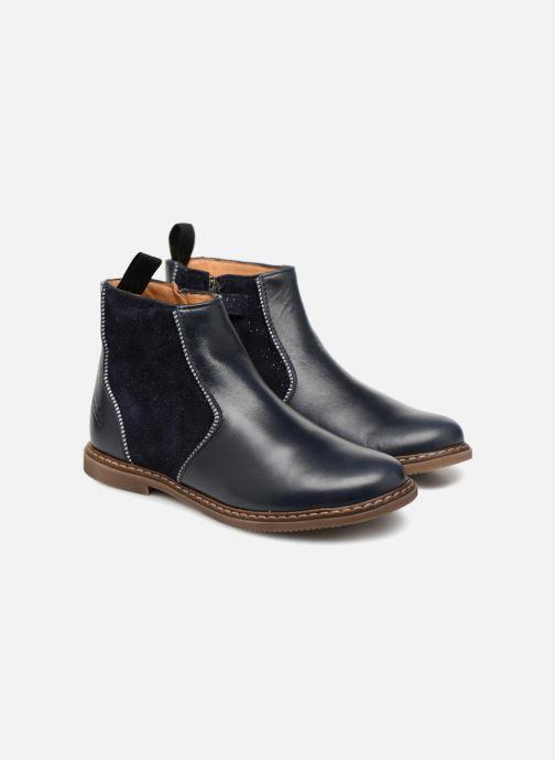 Bottines et boots Pom d Api City Boots Bleu vue 3/4