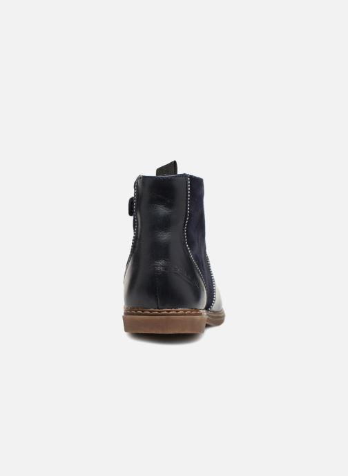 Boots en enkellaarsjes Pom d Api City Boots Blauw rechts