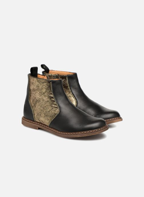 Bottines et boots Pom d Api City Boots Noir vue 3/4