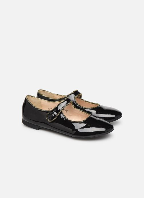 Ballet pumps Pom d Api Daisy Baby Black 3/4 view