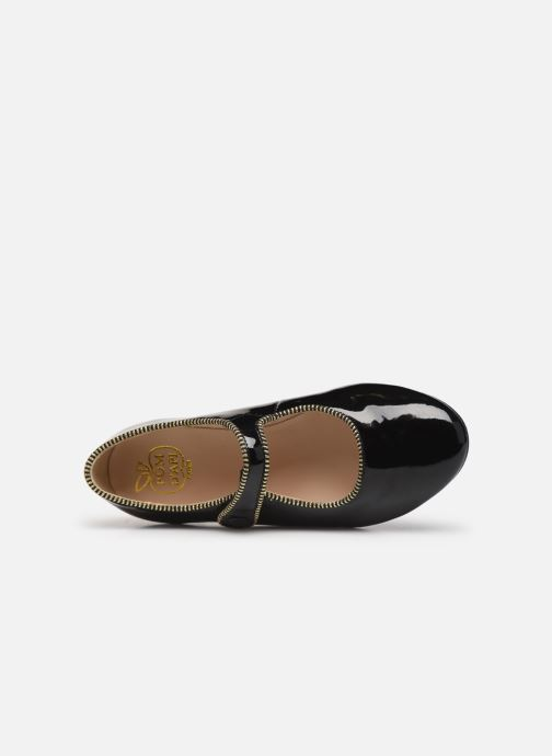 Ballet pumps Pom d Api Daisy Baby Black view from the left