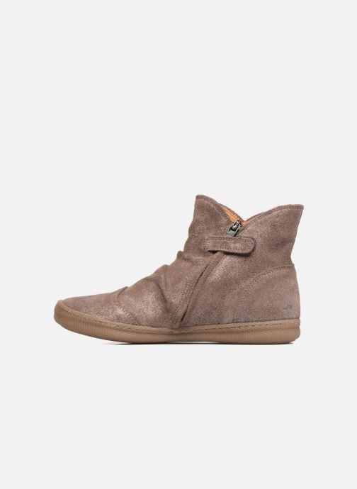 Boots en enkellaarsjes Pom d Api New School Pleats Beige voorkant