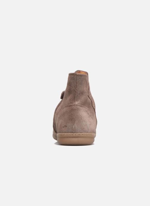 Ankle boots Pom d Api New School Pleats Beige view from the right