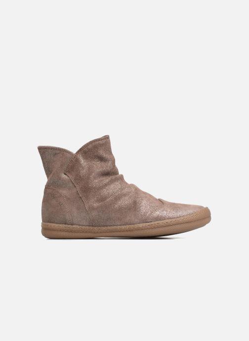 Boots en enkellaarsjes Pom d Api New School Pleats Beige achterkant
