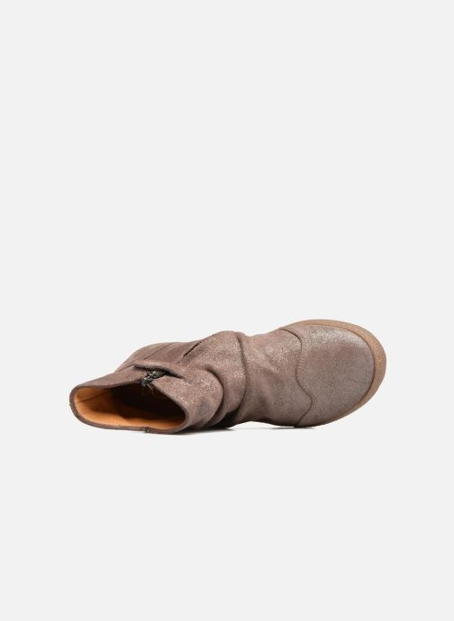 Ankle boots Pom d Api New School Pleats Beige view from the left