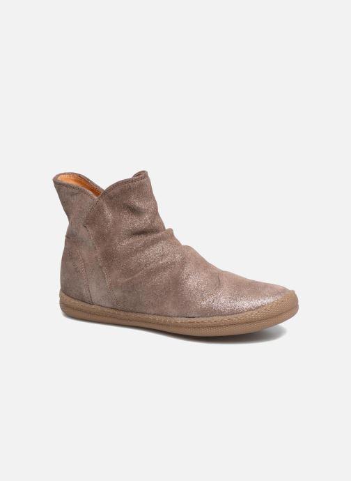 Boots en enkellaarsjes Pom d Api New School Pleats Beige detail