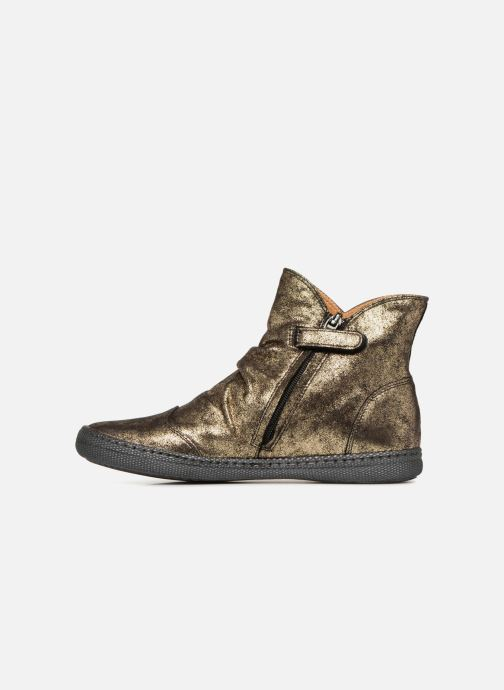 Bottines et boots Pom d Api New School Pleats Or et bronze vue face