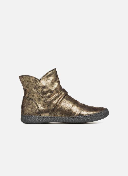 Ankelstøvler Pom d Api New School Pleats Guld og bronze se bagfra