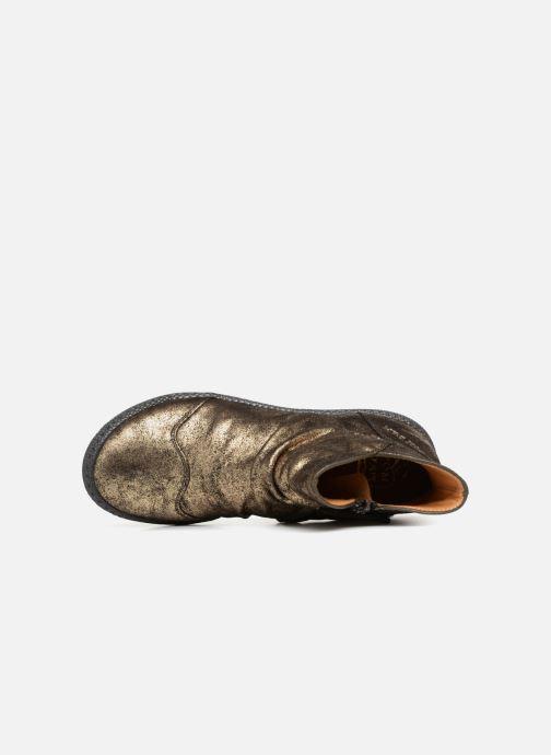 Ankelstøvler Pom d Api New School Pleats Guld og bronze se fra venstre