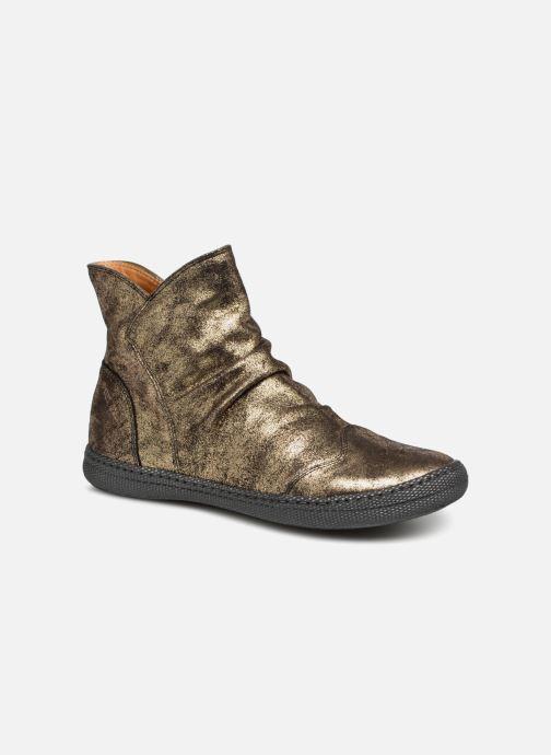 Ankelstøvler Pom d Api New School Pleats Guld og bronze detaljeret billede af skoene