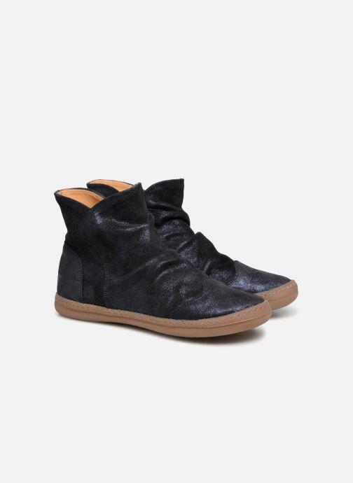 Bottines et boots Pom d Api New School Pleats Bleu vue 3/4