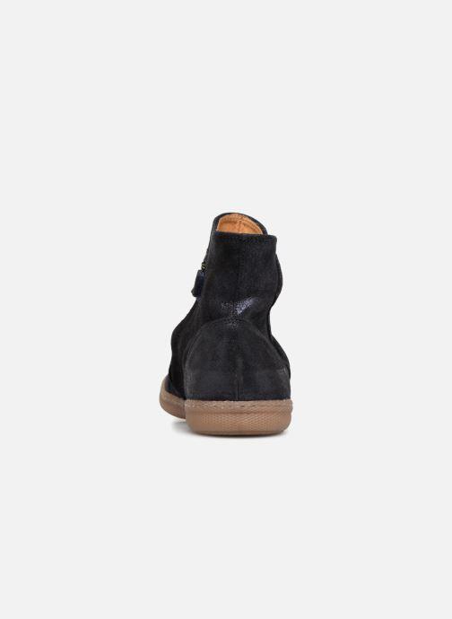 Bottines et boots Pom d Api New School Pleats Bleu vue droite