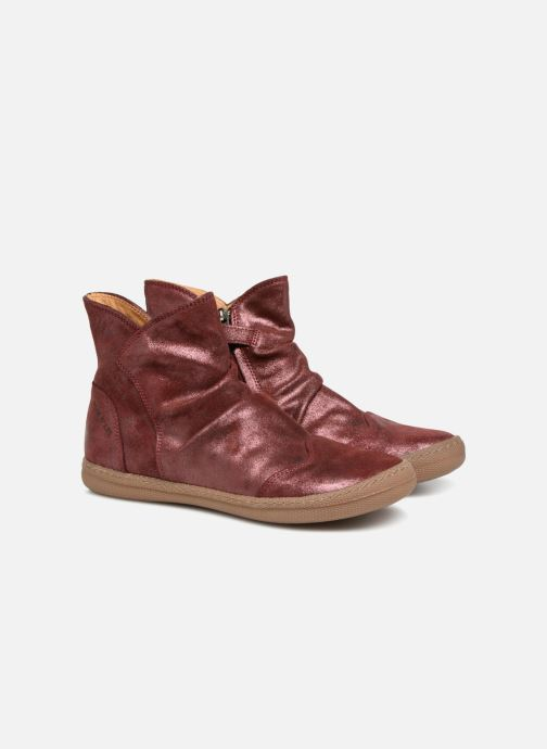 Ankle boots Pom d Api New School Pleats Burgundy 3/4 view