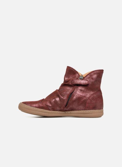 Bottines et boots Pom d Api New School Pleats Bordeaux vue face