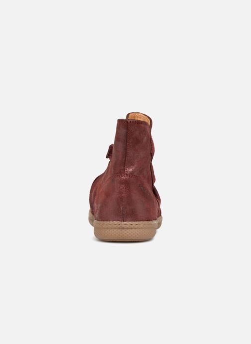 Ankle boots Pom d Api New School Pleats Burgundy view from the right