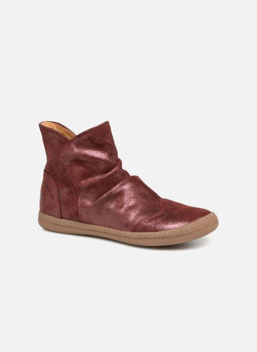 Ankle boots Pom d Api New School Pleats Burgundy detailed view/ Pair view