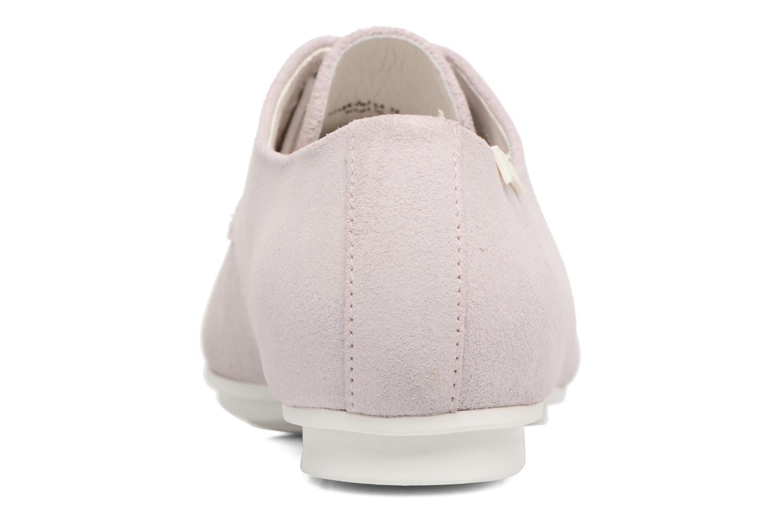 Zapatos con cordones Camper Tabi 22584 Rosa vista lateral derecha