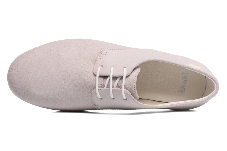 Zapatos con cordones Camper Tabi 22584 Rosa vista lateral izquierda