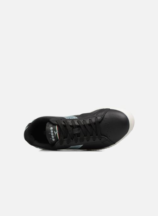 Metallic Baskets Diadora Nero Game argento P8wk0On