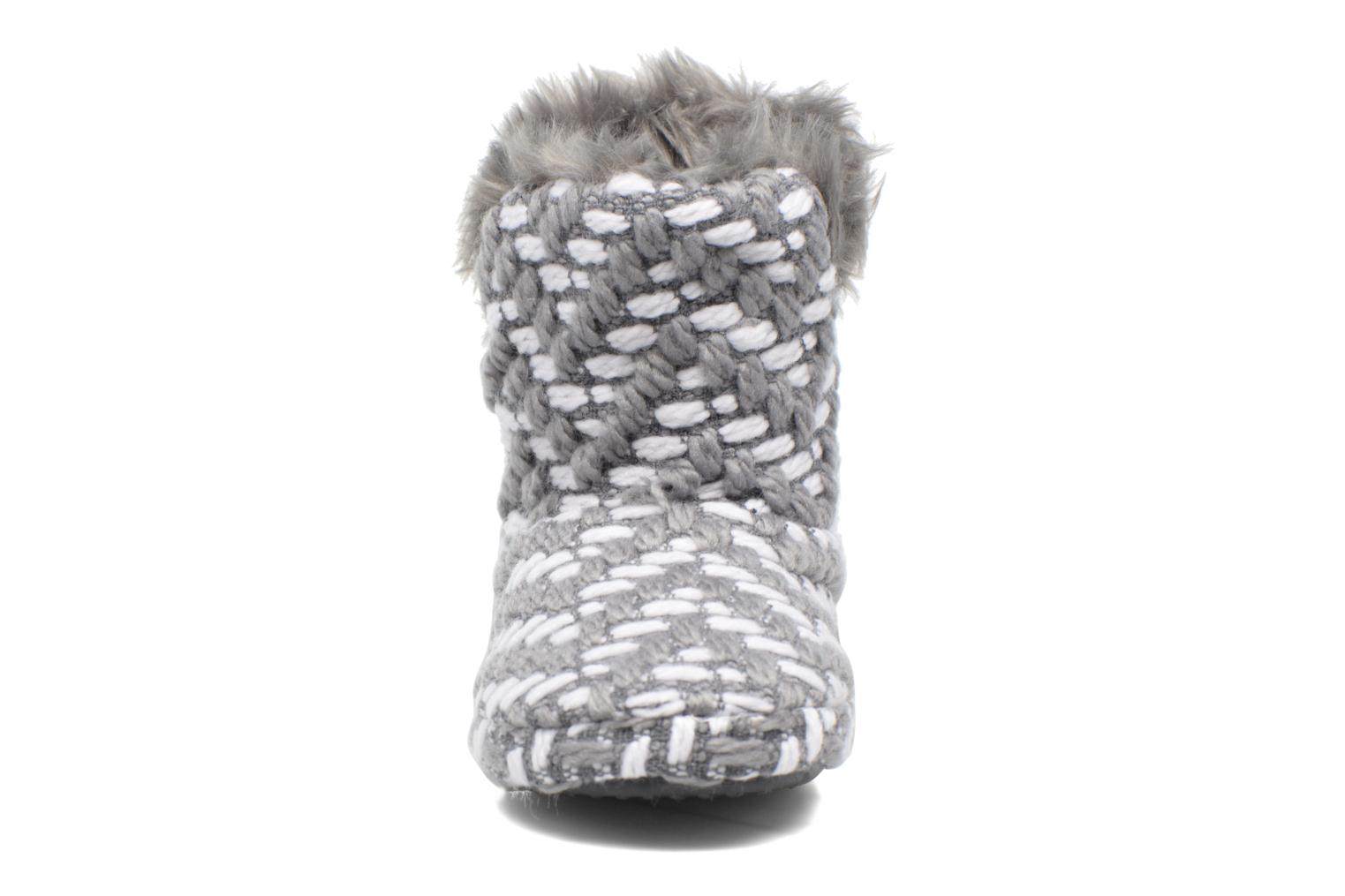 Chaussons Esprit KNITTY BOOTIE Gris vue portées chaussures