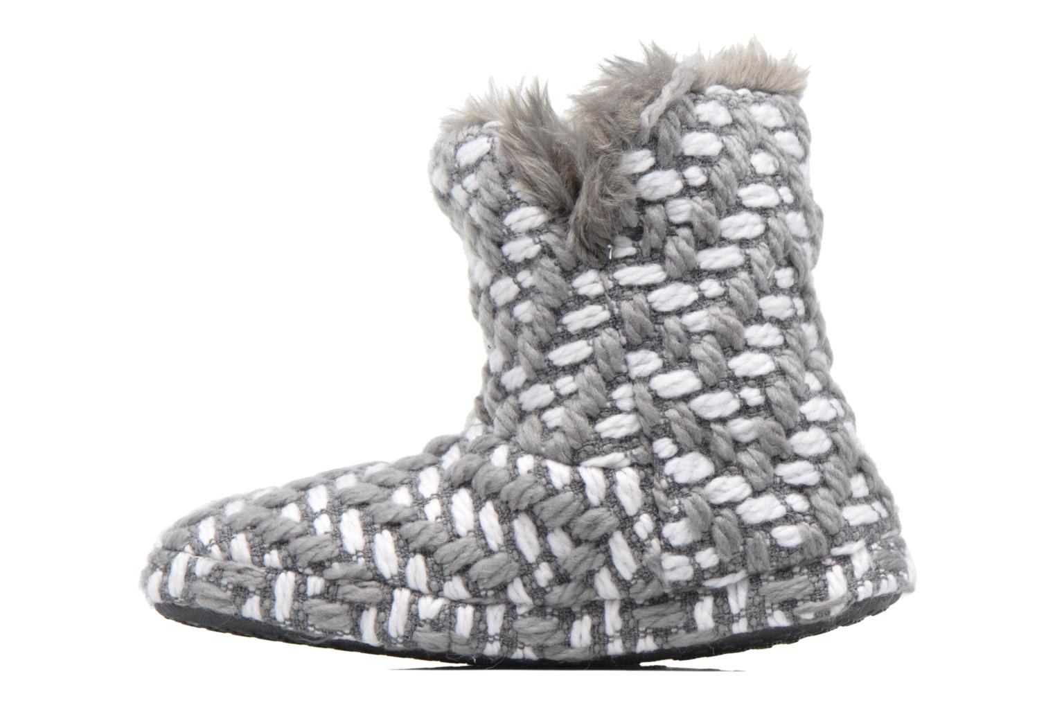 Chaussons Esprit KNITTY BOOTIE Gris vue face