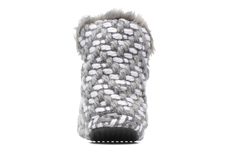 Pantuflas Esprit KNITTY BOOTIE Gris vista lateral derecha