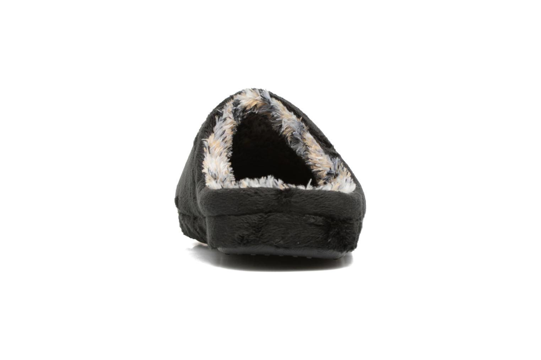 Pantuflas Esprit STITCHY MULE Negro vista lateral derecha