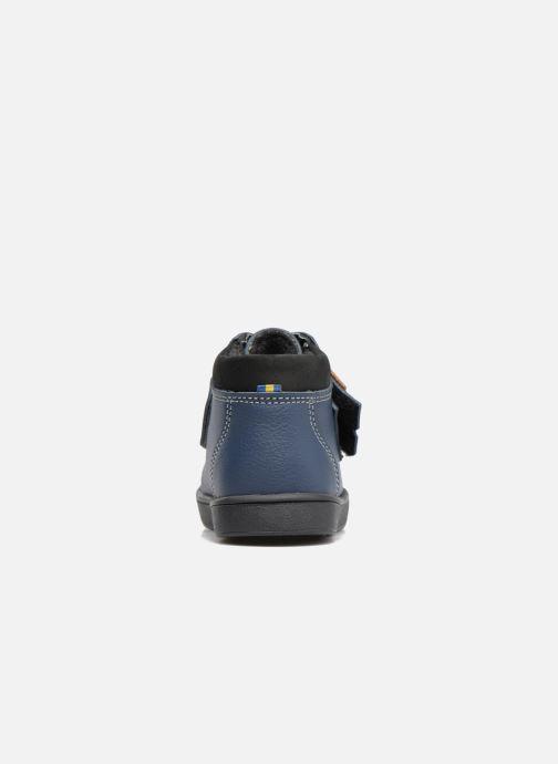 Botines  Kavat Fiskeby XCF Azul vista lateral derecha